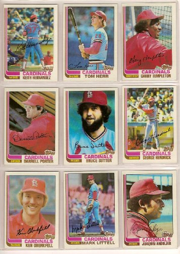 1983 St Louis Cardinals (St Louis Cardinals 1982 Topps Baseball Team Set (World Series Champions) (30 Cards))