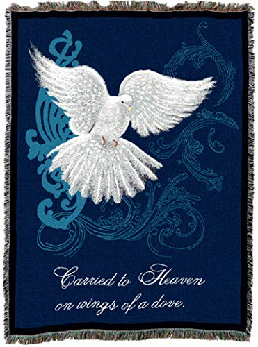 - Pure Country Weavers | Memorial Dove Funeral Bereavement Sympathy Gift Blanket | Woven Tapestry Cotton USA 72x54