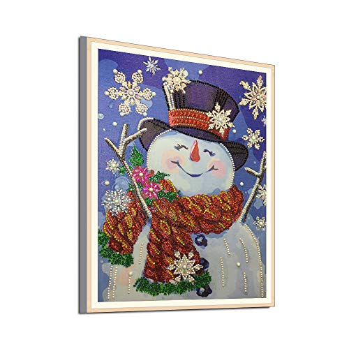 Oldeagle Christmas Snowman Special Shaped Diamond Painting DIY 5D Partial Drill Cross Stitch Kits Crystal Painting]()