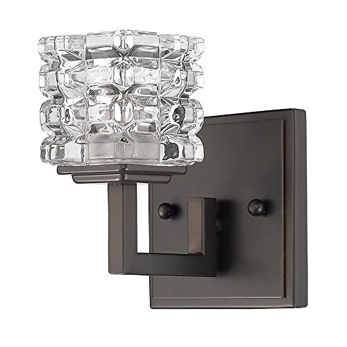 Crystal Sconce Bellacor (Acclaim Lighting IN41315ORB Coralie Indoor 1-Light Sconce with Crystal Glass Shade, Oil Rubbed Bronze)