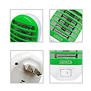Bug Zapper Electronic Insect Killer,Mosquito Killer Lamp,Eliminates Most Flying Pests! Night Lamp(Green)