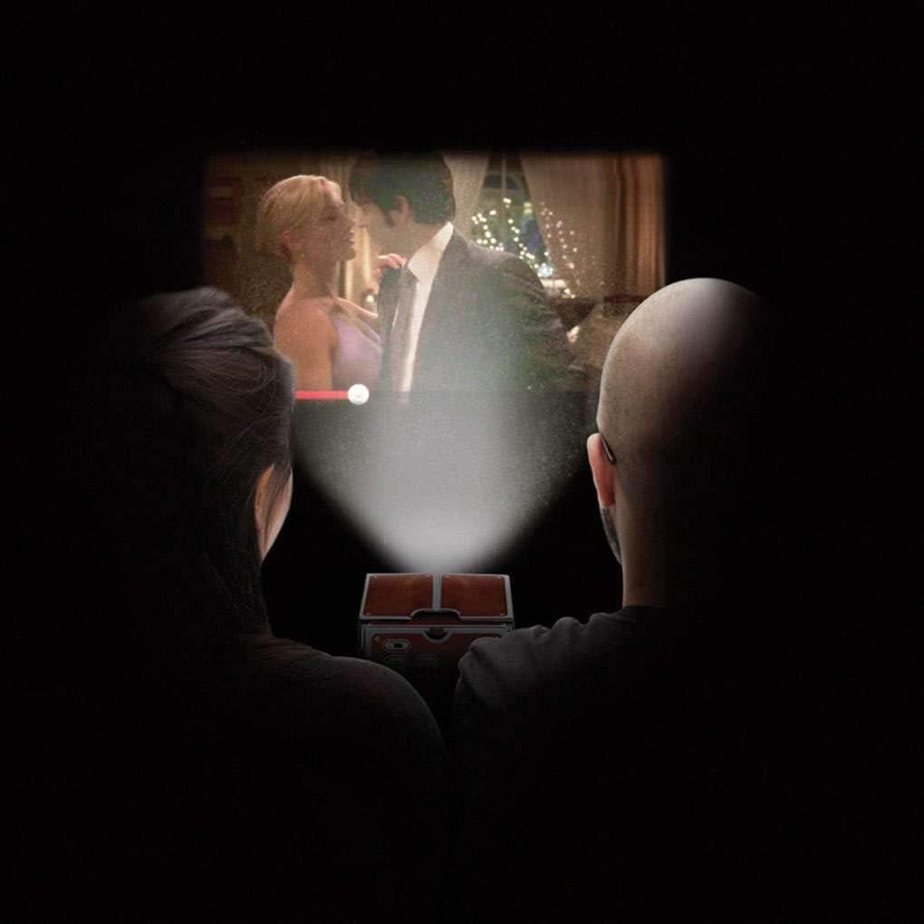 LEVEL GREAT Fai da Te Cartone 3D Mini Smartphone Luce del proiettore della novit/à Regolabile Cinema Portatile del Telefono Mobile del proiettore
