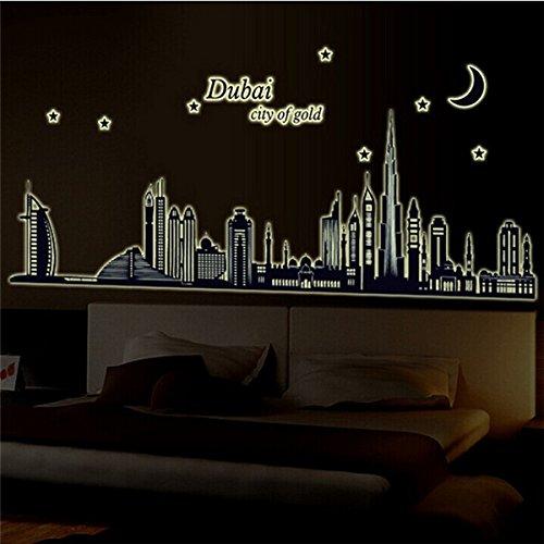 free-shipping-fluorescent-glow-dubai-city-building-luminous-wall-sticker-resplandor-fluorescente-dub