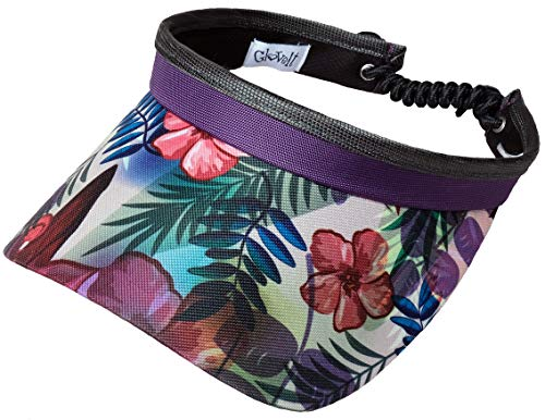 Glove It Womens Adjustable Coil Visor Golf & Tennis Head Visors for Women - UV 50 Protection - Ladies Sun Visor Hat - Large Wide Brim - 2019 Tropical