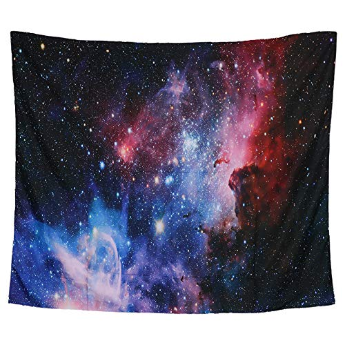 Beaverve Galaxy Tapestry, Wall Hanging Starry Night Tapestry Space Tapestry, Home 3D Cosmic Starry Sky Tapestry, Wall Tapestry Blanket for Bedroom Living Room College Dorm, 59 x51Inches ()