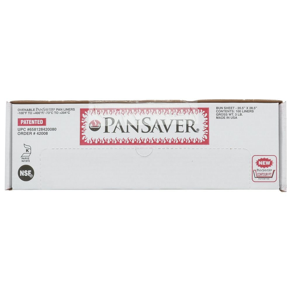PanSaver Monolyn Sheet Pan Liner Full Size Clear - 26''L x 18''W 100 Per Case by M & Q PACKAGING LLC