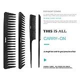 4Pcs Paddle Hair Brush, Detangling Brush and Hair