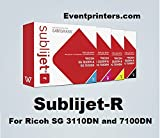 SUBLIJET-R sublimation ink cartridges for Ricoh SG 3110DN and 7100DN printers - COMPLETE SET (CMYK)