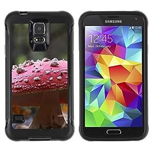 LASTONE PHONE CASE / Suave Silicona Caso Carcasa de Caucho Funda para Samsung Galaxy S5 SM-G900 / Plant Nature Forrest Flower 107