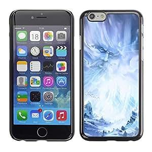 PC/Aluminum Funda Carcasa protectora para Apple Iphone 6 Plus 5.5 God Fairy Wizzard Fairytale Blue Ice Snow / JUSTGO PHONE PROTECTOR