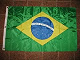 3X5 Embroidered Sewn Brazil Brazilian Nylon Flag 3'X5′ Banner For Sale