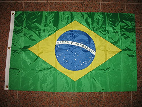 3X5 Embroidered Sewn Brazil Brazilian Nylon Flag 3'X5' Banner