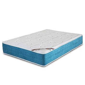 El Almacen del Colchon - Colchón viscoelastico Modelo Exclusive, 150 x 190 x 28cm, Máxima Adaptabilidad - Todas Las Medidas, Blanco y Azul: Amazon.es: Hogar