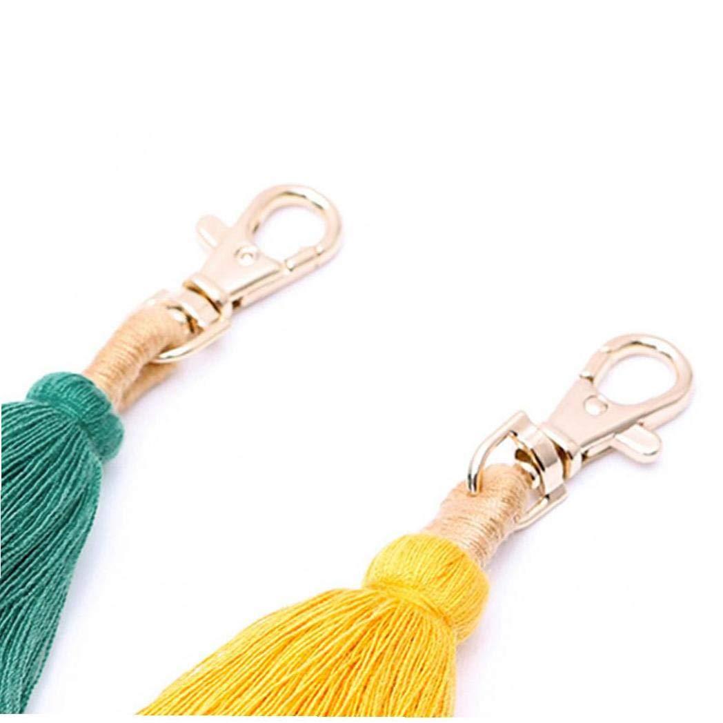 Boho Pom Pom Keychain Handbags Tassel Pendant Purse