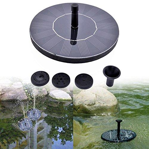 Garden Watering – 7v Floating Water Pump Solar Panel Kits Outdoor Garden Plants Watering Fountain – Timer Brass Meter Sprayers Connector Attachment Equipment Extender Spikes Wand