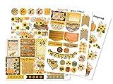 Fall Autumn Sticker Sheets   Planner Stickers for ECLP Vertical (Grateful Fall_EC Matte)