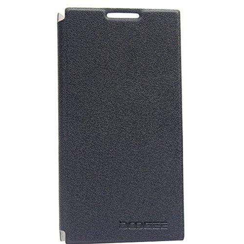 Prevoa ® ?Flip Cover Funda Pare Doogee Dg2014 5.0' Smartphone - - Negro Color