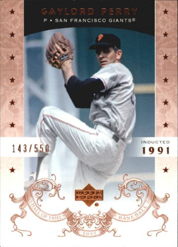 2005 Upper Deck Hall of Fame Baseball Card #29 Gaylord Perry ()