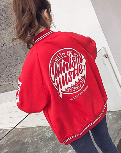 Coat Winter Women's Red Jackets Collar Stand Fall XINHEO Down Button Varsity vXd0ppwq