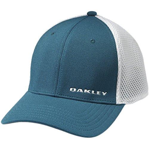 Oakley Mens Silicon Bark Trucker 3.0 Flexfit Hat Large/X-Large Morracan - Head For Oakley Large