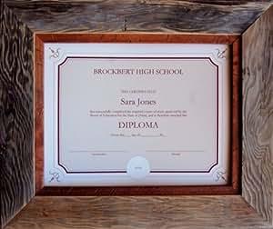 8 5 x 11 rustic certificate frames barnwood with light alder inset custom sizes. Black Bedroom Furniture Sets. Home Design Ideas