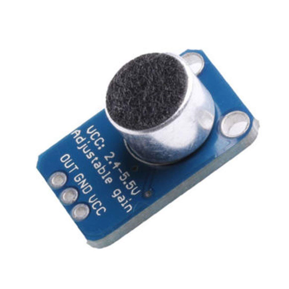 Azul y Negro GY-4466 M/ódulo de preamplificador de Alta precisi/ón Amplificador de micr/ófono Electret MAX4466 con Ganancia Ajustable para Arduino