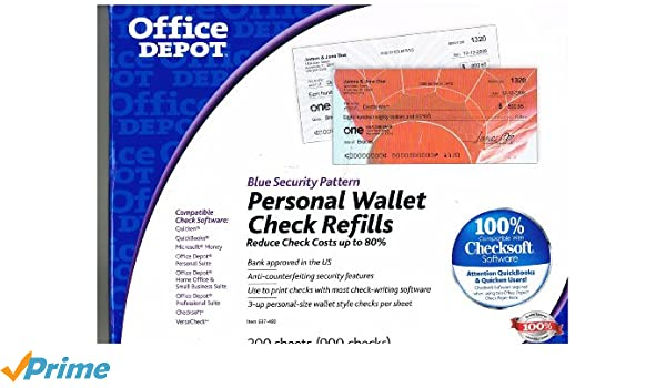 Amazon office depot personal check refill pack 3 part pack amazon office depot personal check refill pack 3 part pack of 300 9294 check registers office products freerunsca Choice Image