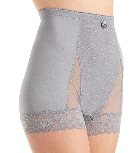 Rhonda Shear Pin Up Dot Tap Panty (4000) 1X/Steel Gray