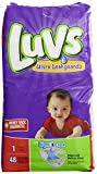 Health & Personal Care : Luvs with Ultra Leak Guards Diapers, Size 1, 48 Count