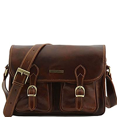 outlet Tuscany Leather San Marino Travel leather bag with pockets on ...