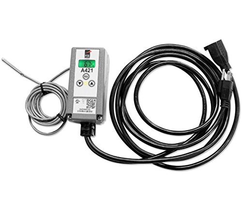 Johnson Controls A421ABG-02C A421 Series Electronic Temperature Control with Pre Wired Power Cord, -40 to 212 Degree F Temperature Range