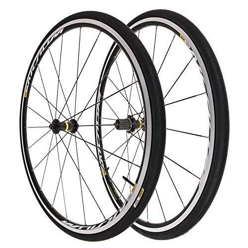 Mavic Aksium Elite 700C Front Rear 11 Speed Shimano Wheelset w 2 Yksion Tires -
