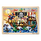 Melissa & Doug Pirate Adventure Wooden Jigsaw Puzzle With Storage Tray (48 pcs)