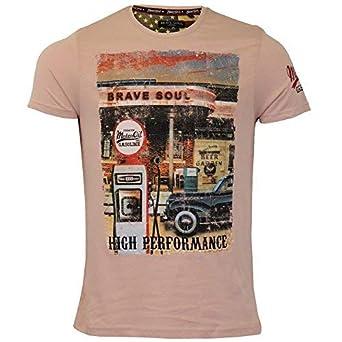 Brave Soul Camiseta Hombre Marque Original Mini Cooper Estampado ...