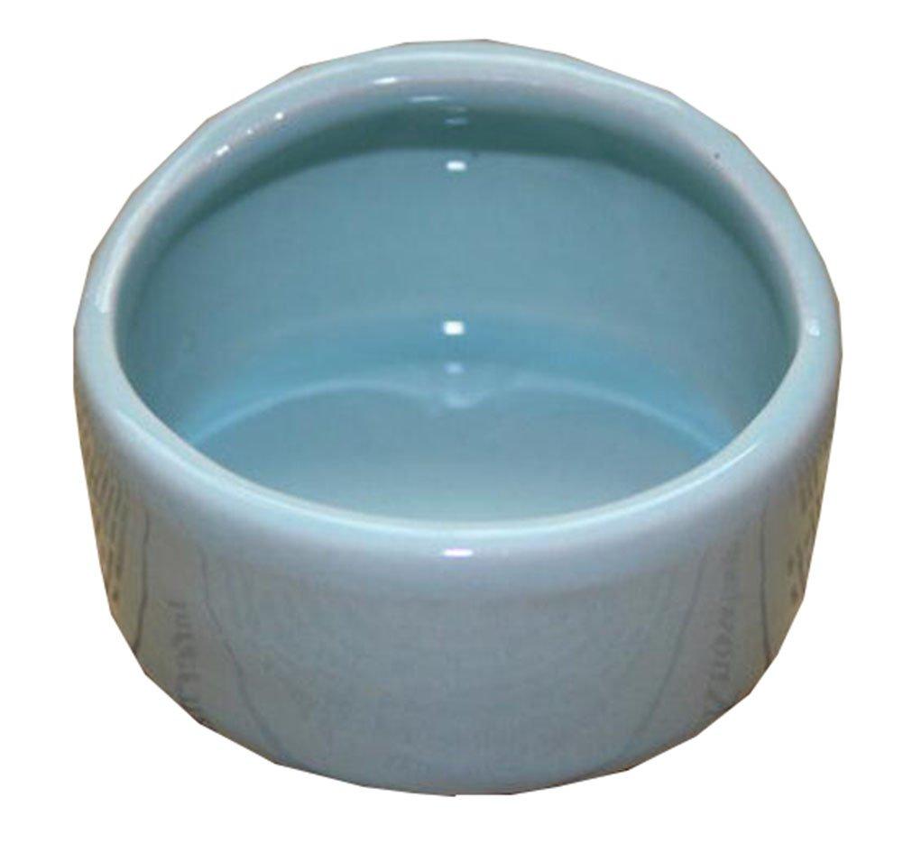 George Jimmy Pet Supplies One Ceramic Feeding Pot Anti-Splash Food Bowl Water Box for Squirrel Hedgehog Hamster 7.5x5.5CM(Blue) by George Jimmy
