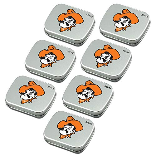 Worthy Promo NCAA Oklahoma State Cowboys Party Favors Sugar-Free Peppermint Candy Mint Tins