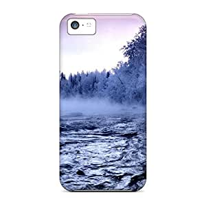 Durable Defender Cases For Iphone 5c Covers(beautiful Winter Lscape At Lakeside [hd1080p])