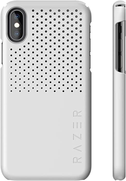 Razer Arctech Slim for iPhone Xs Max Case: Thermaphene & Venting Performance Cooling - Wireless Charging Compatible - Mercury White - RC21-0145BM03-R3M1