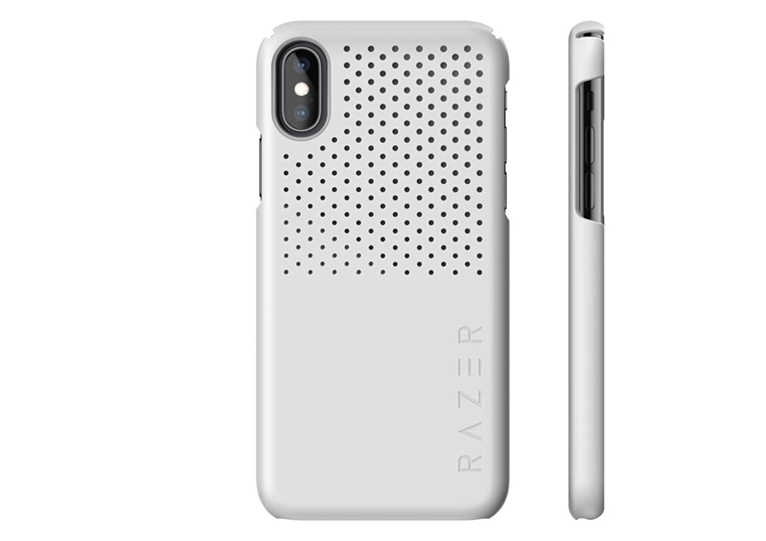 Razer Arctech Slim for iPhone Xs Case/iPhone X Case: Thermaphene & Venting Performance Cooling - Wireless Charging Compatible - Mercury White