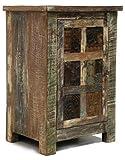 Verde Collection Reed Reclaimed Print Block 1 Door Nightstand