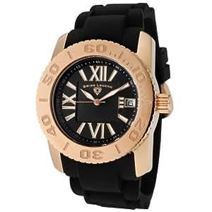 Swiss Legend Women's SL-10114-RG-01 Commander Black Dial Black Silicone Watch