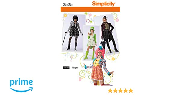 Amazon.com: Simplicity Sewing Pattern 2525 Misses Costumes, RR (14 ...