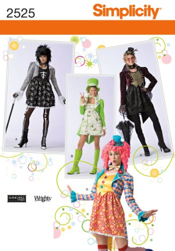Simplicity Sewing Pattern 2525 Misses Costumes, HH (6-8-10-12)