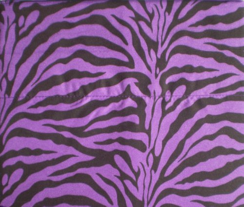 Purple Zebra Print Queen Size Sheet Set 4 PC Safari Animal Print Bedding