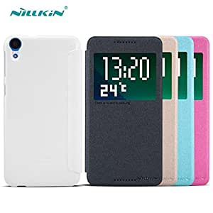 Deal4U NILLKIN Sparkle Series Flip Cover Case Leather Case For HTC Desire 820 Gift Screen Protector #-# Color#=Black