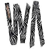 2 Piece Zebra Nylon Cinch Strap And Off Billet Saddle Set Double Ply