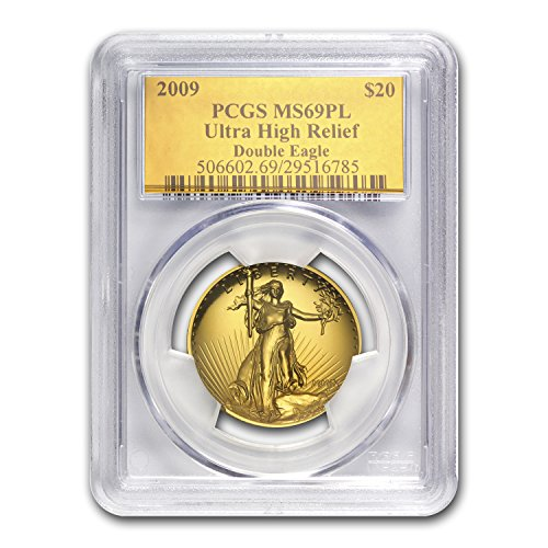 2009 Ultra High Relief Double Eagle MS-69 PL PCGS (Gold Foil) Gold MS-69 PCGS