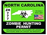 North Carolina Zombie Hunting Permit(Bumper Sticker)