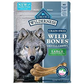 BLUE Wilderness Wild Bones Grain Free Dental Chews, 10 oz., Large Bones for Dogs