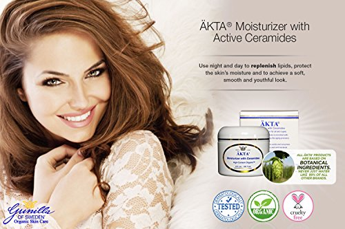 ÄKTA® Moisturizer with Ceramides 2 oz: Based on Nutrient Rich Organic Aloe- a Luxurious Deep Skin Moisturizer- Retains Moisture Up to 24 Hours- Vitamins A, C, and E- Nourishes, Soothes and Protects Dry, Chapped, and Inflamed Skin